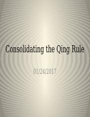 Consolidating the Qing Rule.pptx