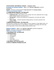 Ch.8 Economic and Industry Analysis - Summary Notes