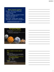 Planets Lecture 2
