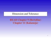 Lecture 4 Dimensioning and Tolerancing Practices