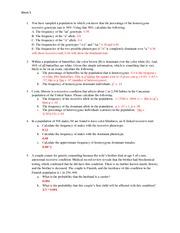 week 5 genetics worksheet