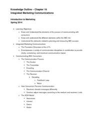 Chapter 16 Knowledge Outline