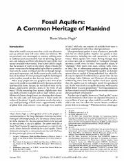 7 化石含水层:人类的共同遗产 Renee Martin-Nagle, Fossil Aquifers_ A Common Heritage of Mankind, 2 Geo. Wash. J. E