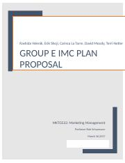 Week 4 Group E IMC Plan Draft 1.docx