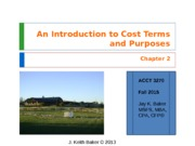 Chapter 2 - Cost Accounting - JKBaker