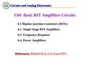 Circuit and analog electronics-CH6
