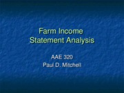Farm Income Statement Analysis
