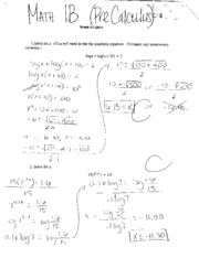 Math1B  F04 Exam and Quizzes - Pre Calculus