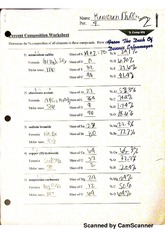 percent composition worksheet - Scanned by CamScanner Scanned by.