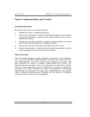20141008083943_topic 9 - TOPIC 9 IMPLEMENTATION AND CONTROL