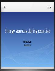 HNFE 3025 Energy Sources During Exercise.pptx