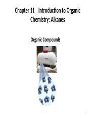 Chapter 11   Introduction to Organic Chemistry -  Alkanes(2)