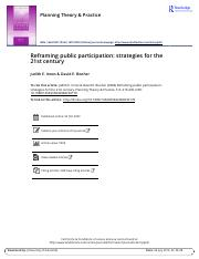 Reframing public participation strategies for the 21st century