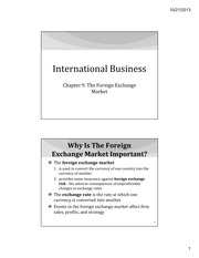 IB Chapter 09 - The Foreign Exchange Market