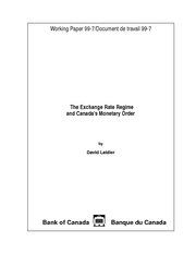 5. The Exchange Rate Regime and Canada's Monetary Order