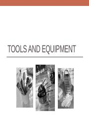 Tools and Equipment [Autosaved]