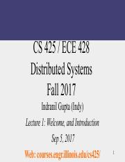 CS 425 : Distributed Systems - UIUC - Course Hero