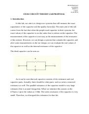 EE202 CIRCUİT THEORY LAB PROPOSAL