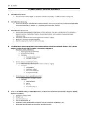 Nutrition Exam II Study Guide - EDITED