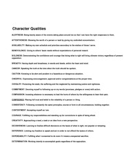 Character Qualities