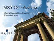 ACCY 504 S13 Ch 6 Internal Controls