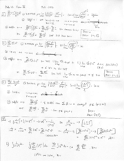 Exam 3, Fall '06, Solutions