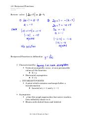 4.6  Reciprocal Functions