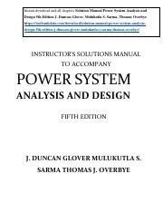 354154950-Solution-Manual-Power-System-Analysis-and-Design-5th-Edition-J-Duncan-Glover-Mulukutla-S-S