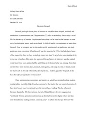 Paper on Beowulf