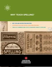 Why Teach Spelling