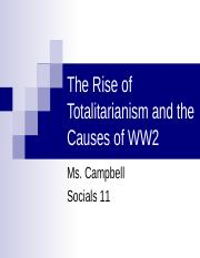 13 - Totalitarianism and Causes of WW2 (no photos) ppt - The