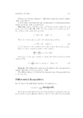 Differential inequality notes