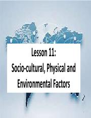 International Business, Lesson 11 (Socio-cultural, Physical and Environmental Factors).pdf