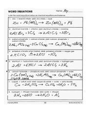 writing-word-equations-worksheet-with-answers-lovely ...