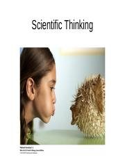 Chapter 1 Scientific Thinking.ppt