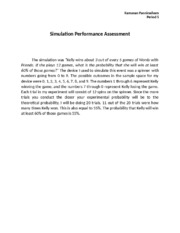 Simulation Performance Assessment.docx