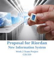 riordan manufacturing new system proposal Our proposal will cover a description of the new system, its components and benefits to riordan, as well as explain the requirements driving the need for the upgrade we will cover the information used in the phone and data upgrades and discuss any security and ethical concerns of the system.