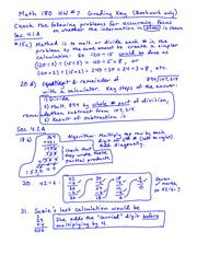 Homework 7 Solution on Fundamentals of Arithmetic