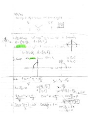 Math 122 Homework Inverse Functions and Redefinition