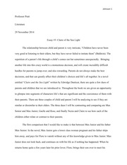 claire of the sea light essay