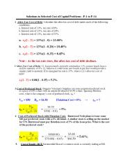 03 SOLUTIONS to Selected Cost of Capital Problems.pdf