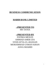 Final Report HBL Business Communication