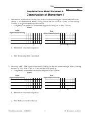 Impulse - Momentum Worksheet 3 - Name PeriodDate ...