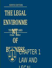 Chap 1 Law and Legal Reasoning