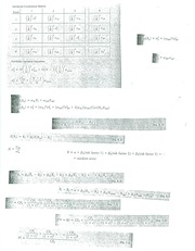 Exam 2 Chapters 5-7 Formulas Cover Sheet