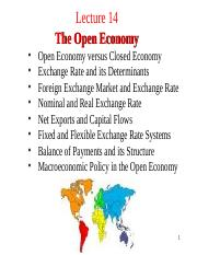 Lecture 14. Open Economy.ppt