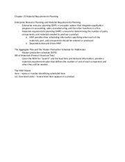 Chapter 21 Material Requirements Planning.docx