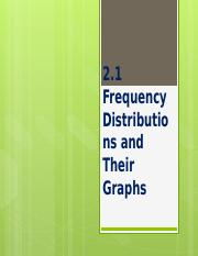 2-1 Frequency Distributions and Their Graphs.pptx