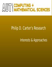 Phil Carter's research(1)