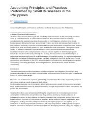 Accounting Principles and Practices Performed by Small Businesses in the Philippines.docx
